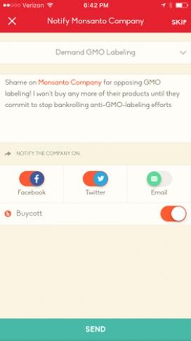 Buycott: és una aplicació que promou l'activisme cívic i el foment del consum responsable