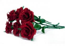 Rosa de tela de sac d'Aprodisca