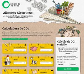 Calculadora de CO2 de l'associació ecologista Amigos de la Tierra