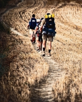 Persones caminant en un camp_victor_nuno_Flickr