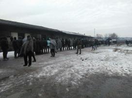 Camp de refugiats a Sèrbia. Font: Twitter