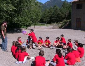 Imatge d'un campament d'estiu de la Fundació Pere Tarrés.
