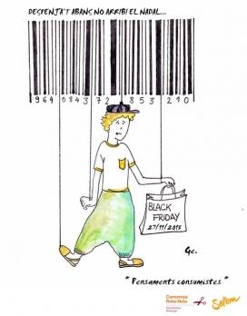 Cartell de la Campanya Roba Neta contra el consumisme