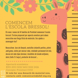 Campanya Comencem L'Escola Bressol.  Font: ABD