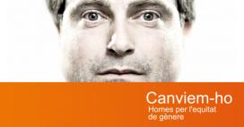 La portada del web Canviem-ho, el web que implica els homes en l'equitat de gènere. Font: Canviem-ho
