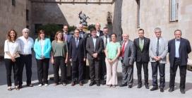 L'acte institucional amb motiu de la creació del Parc Natural, el 22 de setembre de 2015, amb els alcaldes de la zona i el President de la Generalitat (imatge:@catalangov)