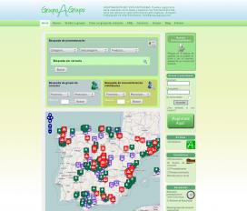Captura de pantalla del lloc web Grupo a Grupo