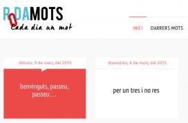Captura de pantalla de la nova plana web de RodaMots