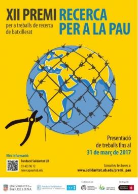 Cartell del XII Premi de Recerca per a la Pau
