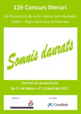 """12è Concurs literari """"Somnis daurats"""""""