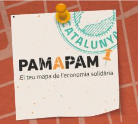 Cartell del mapa interactiu Pam a Pam