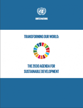 Portada de l'Agenda de 2030 per al Desenvolupament Sostenible