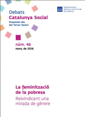 """Portada de l'informe """"La feminització de la pobresa. Reivindicant una mirada de gènere"""" (Font: Tercersector.cat)"""