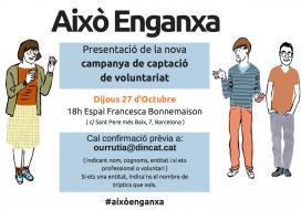 Flyer de la campanya de captació de voluntariat 2016. Font: Dincat.