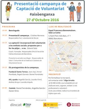 Programa de l'acte d'inauguració de la campanya #Aixòenganxa. Font: Dincat.