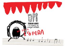 """Cartell de la quarta edició de la """"Fàbrica de menjar solidari: un dia a l'òpera"""" (Font: lafabricademenjarsolidari.org)"""