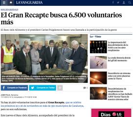 Els mitjans de comunicació poden ser uns grans aliats en la nostra cerca de persones voluntàries (Font: lavanguardia.com)