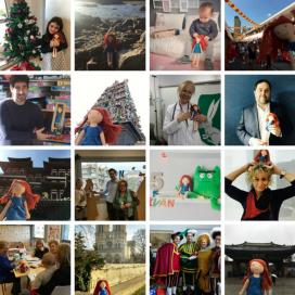 """La campanya """"#amblaketa"""" pretén fer viatjar a la nina per tot el món (Font: Enriqueta Villavecchia)"""