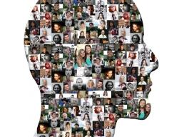 Cara de perfil que inclou molts rostres, exemple de contingut creatiu. Font: Pixabay