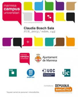 Carnet del Campus Manresa. Font: Demana Banca Ètica