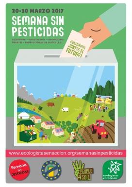 Cartell de la Setmana sense pesticides / Foto: Ecologistes en Acció
