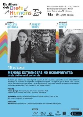 Conferència 'Menors estrangers no acompanyats: drets doblement vulnerats'
