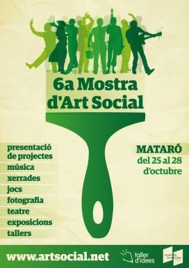 Cartell de la sisena edició de la Mostra d'Art Social de Mataró