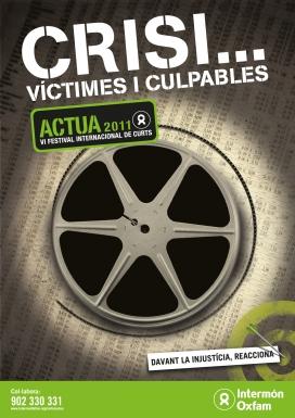 Cartell del VI Festival Internacional de Curtmetratges Actua