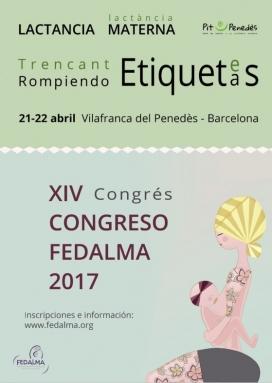 Cartell del Congrés Fedalma 2017 sobre lactància materna