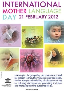 Cartell del Dia Internacional de la Llengua Materna 2012