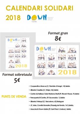 Els calendaris que Down Lleida ja ha posat a la venda