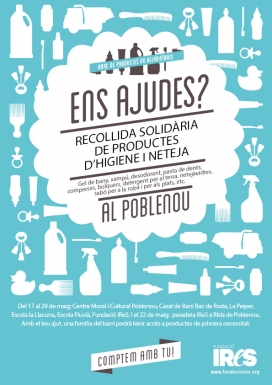 Participa a la recollida solidària de productes d'higiene i neteja al Poblenou