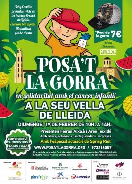 """Imatge del cartell de la quarta edició del """"Posa't la gorra!"""" de Lleida. (Font: AFANOC)."""