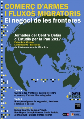 Cartell de les Jornades del Centre Delàs d'Estudis per la Pau 2017.