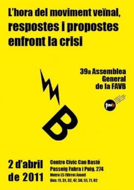 Imatge del cartell de la 39a Assemblea General de la FAVB