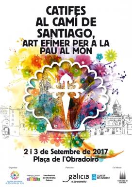 """Cartell """"Catifes al Camí de Santiago"""" 2017"""