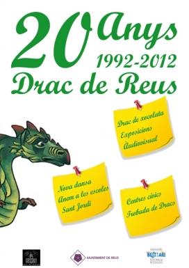 Cartell commemoratiu del 20è aniversari del drac de Reus