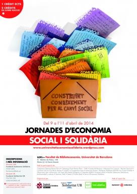 Cartell de les Jornades d'ESS (Font: FAS)
