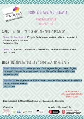 Curs Formació de la nova ciutadania: llengua, cultura i participació