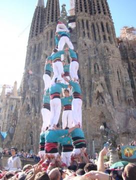 Castellers de la Sagrada Família.