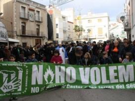Manifestacions contra el projecte Castor