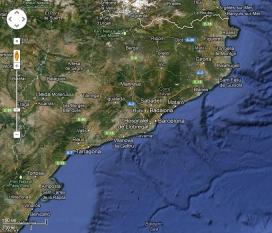 Catalunya al Google Maps