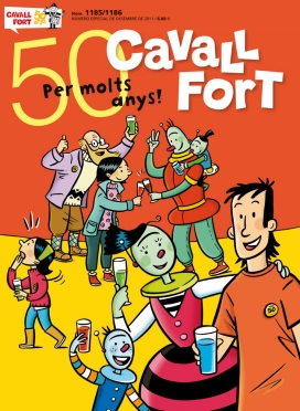 Portada de l'edició del 50è aniversari de Cavall Fort