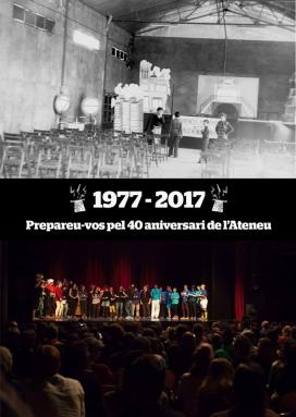 L'Ateneu 9 Barris celebra el seu 40è aniversari. Font: Pàgina de Facebook de l'Ateneu 9 Barris