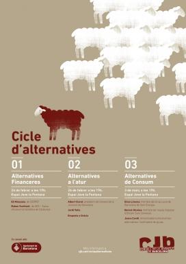 Cartell del cicle d'alternatives financeres, laborals i de consum per a joves i entitats juvenils