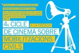 Cartell del 4t Cicle de Cinema a la fresca sobre Mobilitzacions Civils
