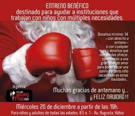 Combat organitzat pel Club Xàbia. Benefficis destinats a la comunitat