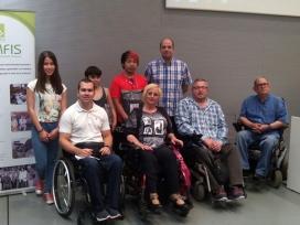 Membres de l'entitat Cocemfe.Font: Cocemfe Catalunya