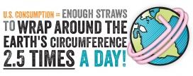 Estat del consum de canyes de plàstic als Estats Units.