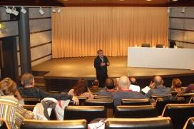 Joan Morros és programador al Teatre Kursaal de Manresa.